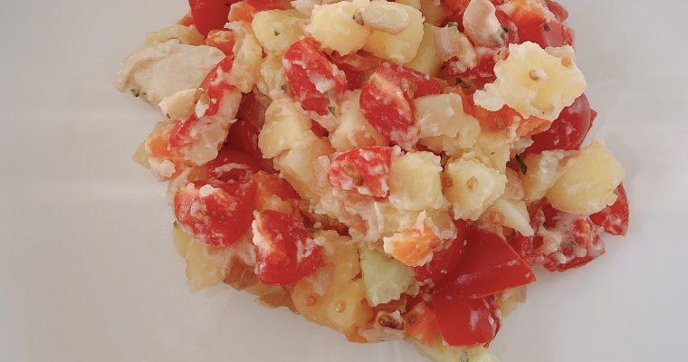 Eenvoudige aardappelsalade