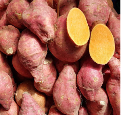 Zoete aardappel stamppot
